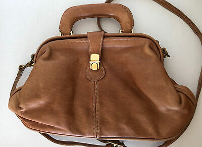 Women's JEREMY LAW Scotland Tan Deerskin Leather Shoulder Bag • 40£