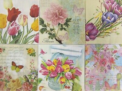 Paper Napkins X 6 Spring Easter Mix For Decoupage Craft Card Making (25x25cm)  • 2.39£