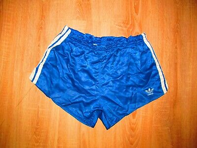 Adidas Vintage Retro Shiny Nylon Sprinter Sport Shorts GLANZ SZ D6 West Germany • 26£