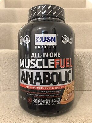 USN Hardcore Muscle Fuel Anabolic Protein 2kg Caramel Peanut Butter Flavour • 22£
