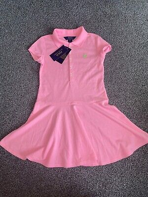 Brand New With Tags Neon Pink Ralph Lauren Polo Dress Age 7 Years • 19.99£