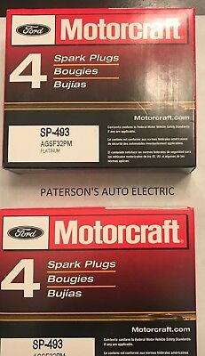 $34 • Buy (8) MOTORCRAFT PLATINUM SPARK PLUGS Fits 1993-05 LINCOLN TOWN CAR Verify OE #