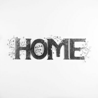 Large Metal Wall Art With Diamante Detail  Home  Word 92 Cm • 49.99£