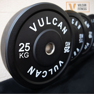AU129 • Buy VULCAN Olympic Black Bumper Weight Plates Set | 5kg To 25kg | IN STOCK