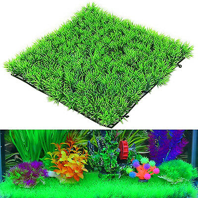 Artificial Water Aquatic Green Grass Plant Lawn Aquarium Fish Tank Landscape PM • 2.30£