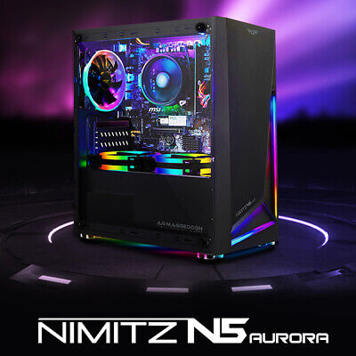 AU59 • Buy Micro-ATX PC Gaming Case Tempered Glass Front RGB Strip Without RGB Fan (N5)