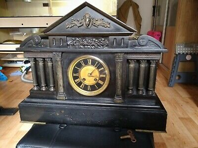Antique Vintage Marble/Slate 19th Victorian Mantel Clock • 125£