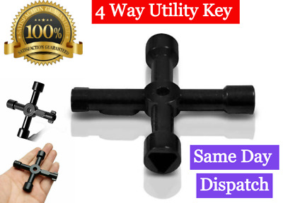 PREMIUM Service Utility Meter Key Gas Electric Box Cupboard Triangle DIY 4 WAy • 2.49£