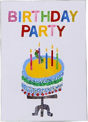 £3.25 • Buy 10 Hungry Caterpillar Cake Invitations & Envelopes Birthday Party Supplies