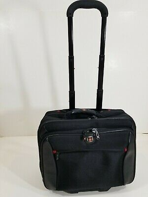 Wenger Swiss Gear Rolling Carry-On Computer 17  Laptop Briefcase Day Bag EUC • 56.90£