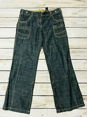 Retro Next Dark Blue Slouch Jeans Relaxed Loose Size 12 R • 16.99£