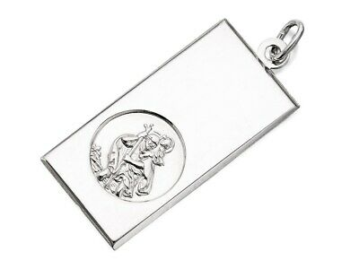 F.Hinds Womens Jewellery Silver St. Christopher Ingot Pendant - 1.5 X 3Cm • 29.95£