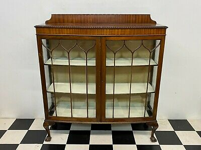 Antique Edwardian Queen Anne Style Glazed Mahogany Display Cabinet - Delivery • 120£