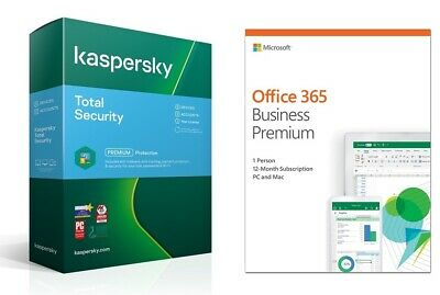 AU299 • Buy MS Office 365 - Business Premium 1 Year & Kaspersky 3D 1 Year - Brand New