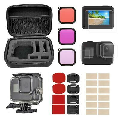 $ CDN27.76 • Buy Accessories Kit For GoPro Hero 8 Black Case Tempered Glass Screen Protector Set