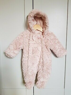 Baby Girl Snowsuit/ Pramsuit 0-3 Months From George • 2£
