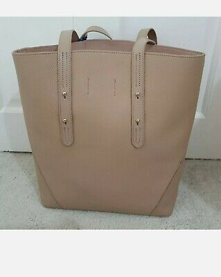 Aspinal Of London Leather Tote Bag With Dust Bag, Soft Taupe, RRP £295 • 105£
