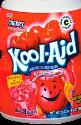Kool Aid Cherry Flavoured Soft Drink Mix  538g -Tub  • 8.49£