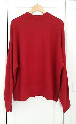& Other Stories Red Slouchy Oversized Fit Wool Blend Knit Jumper BNWT Large • 49£