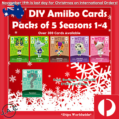 AU37.50 • Buy DIY Series 1-4 Amiibo Card Pack NTAG215 Animal . Crossing New Horizons