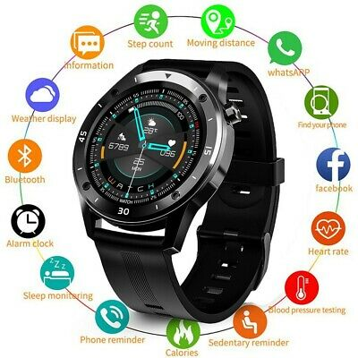 AU35.79 • Buy Smart Watch Bluetooth Heart Rate Blood Pressure Fitness Tracker For IOS Android