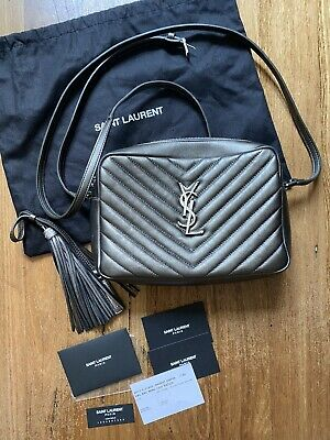 AU1150 • Buy YSL Yves Saint Laurent Lou Camera Crossbody Bag AUTH - Metallic - Preowned