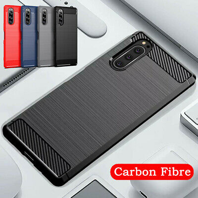 AU7.80 • Buy For Sony Xperia 1 5 10 II L3 XZ3 XA2 Matte Silicone Soft Case Carbon Fiber Cover