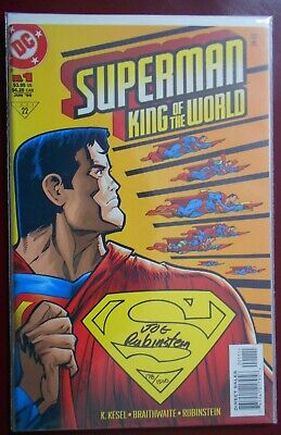 Superman:King Of The World (1999) DC Signed 178 Of 1500 • 6£