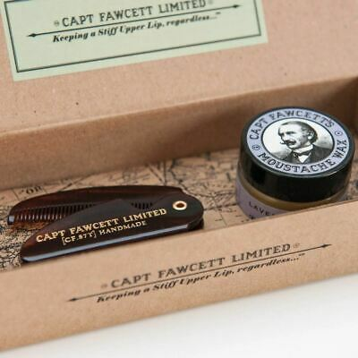 Captain Fawcett's Moustache Wax (15ml) & Folding Pocket Moustache Comb • 19.95£