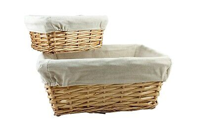 Storage Wicker Willow Baskets Natural Lining Make Your Own Christmas Gift Hamper • 11.95£