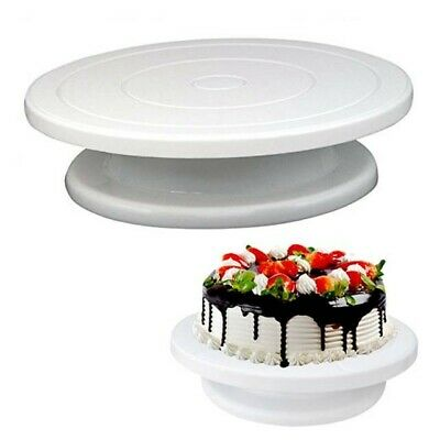 ROTATING CAKE ICING DEOCRATING REVOLVING KITCHEN DISPLAY STAND TURNTABLE 28cm • 6.95£