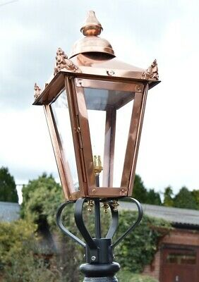 USED Ex-Display 60cm Tall Copper Victorian Lantern Replacement Lamppost Top • 130£