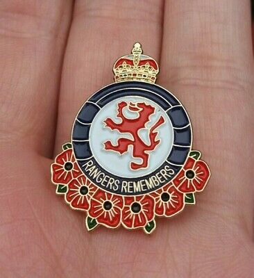 £9.95 • Buy Rangers Remembers Remembrance Poppy Pin Badge Vgc