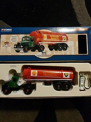 Corgi 16306; Scammell Highwayman Artic Tanker; Shell BP; Excellent Boxed • 20£