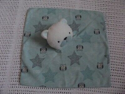 Chick Pea Bear Soft Toy Baby Comforter With Owl/cuddle Blanket - From Birth • 4.99£