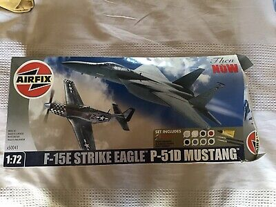 AIRFIX THEN & NOW A50041: F-15E Strike Eagle P-51D Mustang • 2.40£