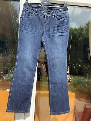 M&S Indigo Stretch Jeans Size 12 With Sequin Detailing BNWOT • 7.95£