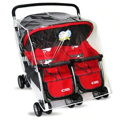 Clear Rain Cover Shield For Britax B-Lively Twin Double Baby Kids Strollers • 10.73£