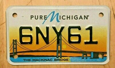 $22.99 • Buy The Mackinac Bridge Graphic Motorcycle Cycle  License Plate   6 Ny 61