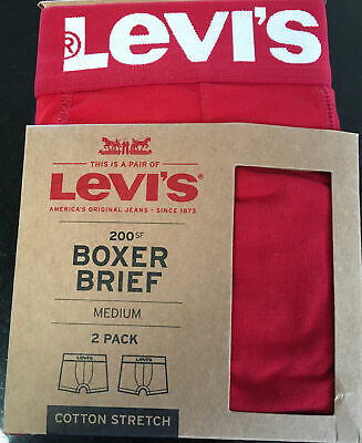 Levis Boxer Shorts Medium Red 2 Pack • 15£