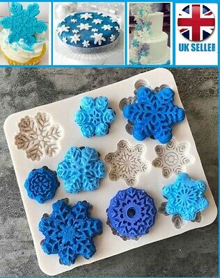 £2.69 • Buy SNOWFLAKE SILICONE MOULD Mold Frozen Snow Queen Cake Decoration Cupcake Fondant