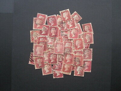 GB STAMPS  QUEEN VICTORIA - SELECTION OF (50+) 1d RED PLATES - UNSORTED MIX (R23 • 7.50£