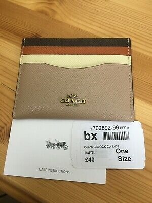 Coach Card Holder - Colour Block - Leather - New With Tags • 28£