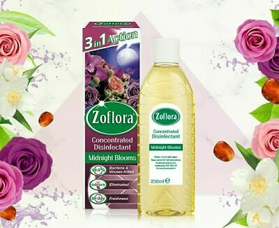 3 X Midnight Blooms Zoflora, Larger 250 ML Bottle # Hinch • 12.49£