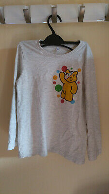 Children In Need Pudsey Bear M&S T Shirt Top (5-6 Years) • 1.99£