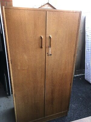 Beautiful Vintage Retro 1950s G Plan Brandon Golden Oak Wardrobe  • 68£