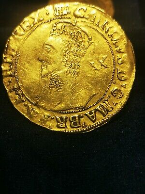 CHARLES I GOLD UNITE Hammered Coin • 1,600£