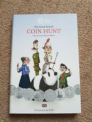 Kew Gardens 2019 The Great British 50 Pence Coin Hunt Collector Album With Coins • 69£