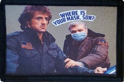$7.99 • Buy Rambo Face Mask First Blood  Morale Patch Funny Tactical Military USA Flag