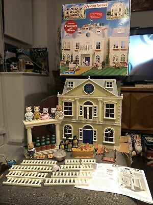 Sylvanian Family Decorated Grand Regency Hotel & Figures Mint Vintage Boxed • 399.99£